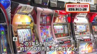 パチスロ賭博店「PANIC GOLD」経営者の太田成彦容疑者(30)と客の2人を逮捕。歌舞伎町